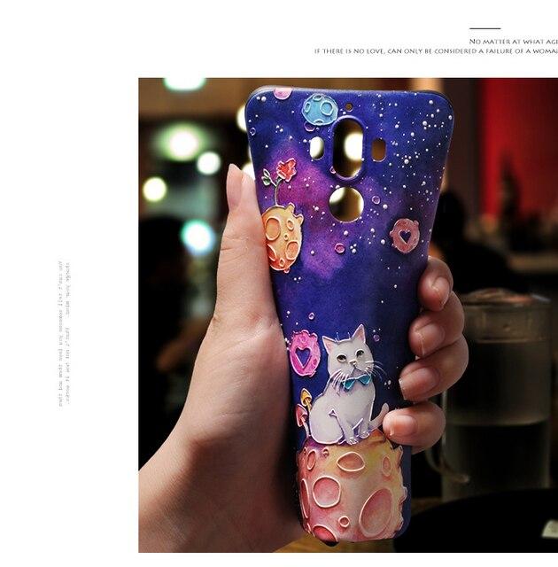 Coque souple en relief 3D pour Huawei P20 P10 P9 P8 Mate 20 10 Lite Pro Nova 3 3i Coque pour Huawei Honor 8X 6A 7A Pro 9 Lite 10