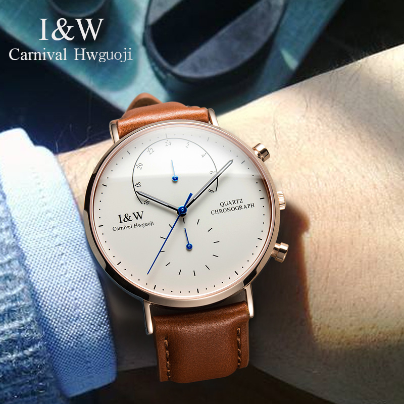 Carnival Famous Brand Watch Men Casual Fashion Quartz Watches Business Simple Wrist Watch Leather 948586 234 4205 upstream o2 oxygen sensor for 1998 2002 toyota corolla new