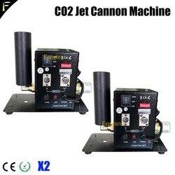 2 jednostka wielka kompaktowa maszyna Co2 crio Blast Cannon Mini urządzenie odrzutowe Co2 w tym 5 metrów wąż kriogeniczny DMX512 CO2 Jet Blaster kolumna