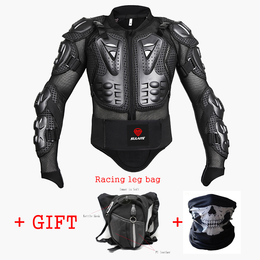 Motorcycle Jacket Armor Moto Waist Bag Motor Bike Mask Gift Motorbike Full Body Protector Motocross Chest Spine Protective Gear herobiker motorcycle jacket body armor motocross protective gear motocross off road racing vest moto armor vest black and white
