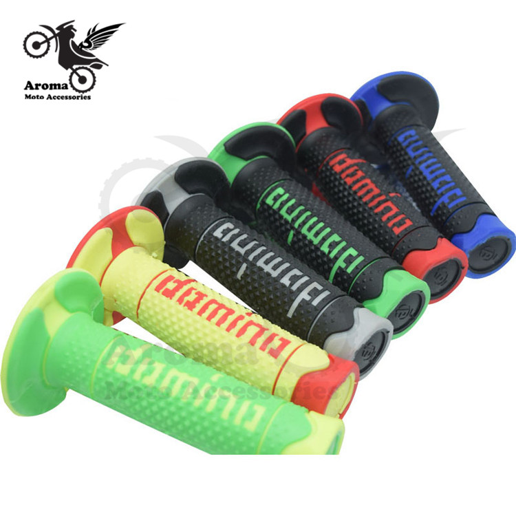 Colorful Universal 22MM Motorbike Handle Bar Grip Parts Racing Moto Handle Grips Rubber For Honda Suzuki Yamaha KTM Domino Motocross Accessories Dirtbike Hand Grips Pitbike Part Dirt Pit Bike Grip Motorcycle Handlebar