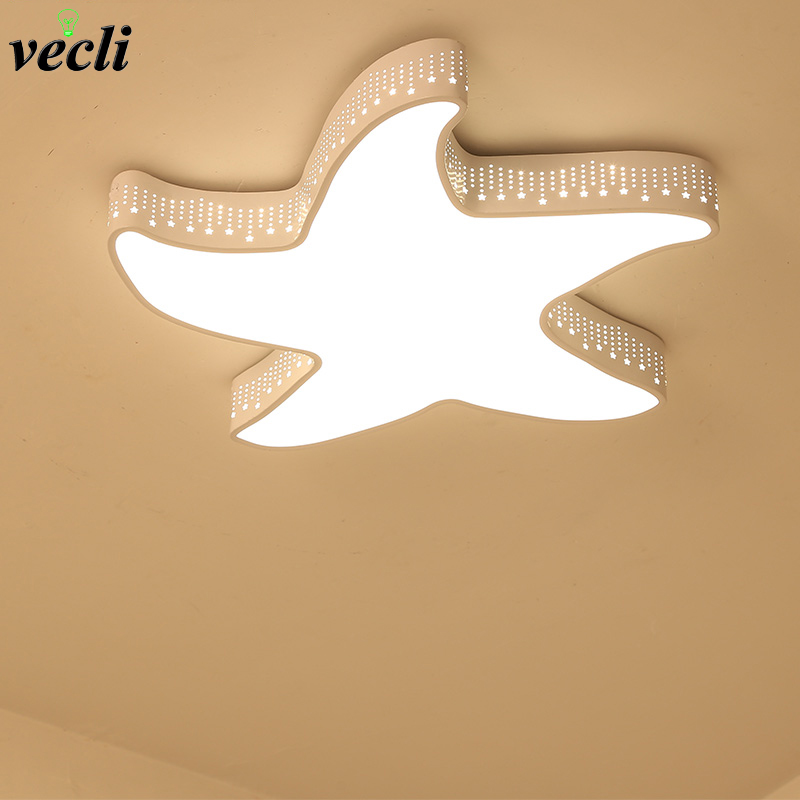 Children's room ceiling lamp, boy bedroom light, simple originality, girls room lighting, cartoon five pointed star, LED lamp zunge led ceiling lights children s room cartoon creative five pointed star cute boy and girl bedroom p592 study room iron lamp