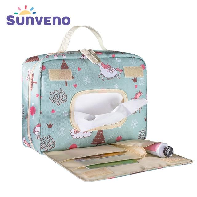 Sunveno תינוק חיתול שקיות יולדות שקית עבור חד פעמי לשימוש חוזר אופנה הדפסי רטוב יבש חיתול תיק כפול ידית Wetbags 21*17*7 סנטימטר