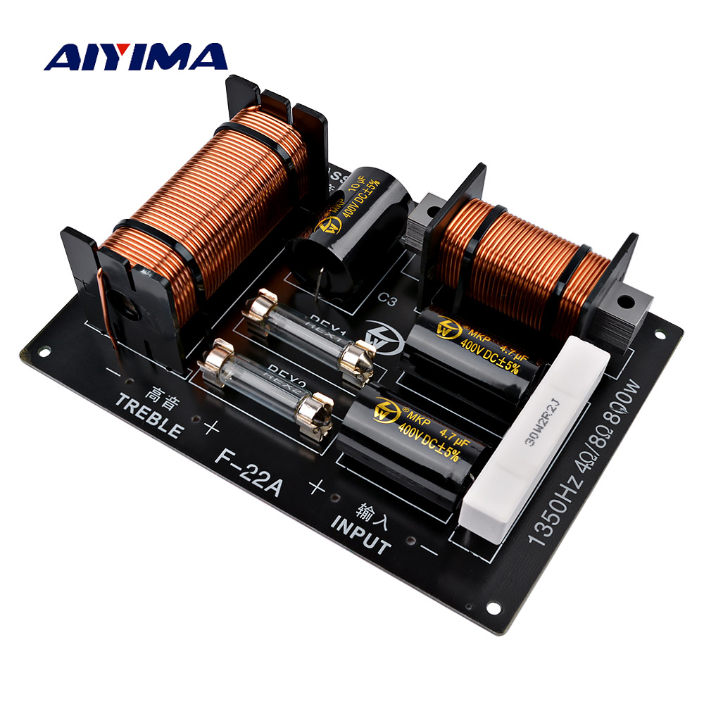 AIYIMA 1Pcs 800W 2 Way Audio Speaker Frequency Divider Tweeter Bass Crossover Filter Speaker Amplifier Home Sound Theater