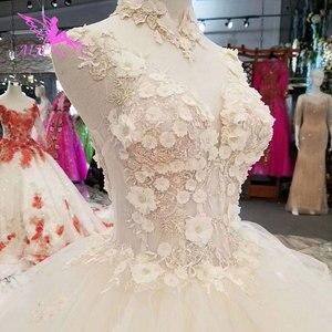Image 3 - Aijingyu simples vestido de casamento vestidos em marfim noivado líbano simples venda nupcial um vestido de luxo vestidos de casamento