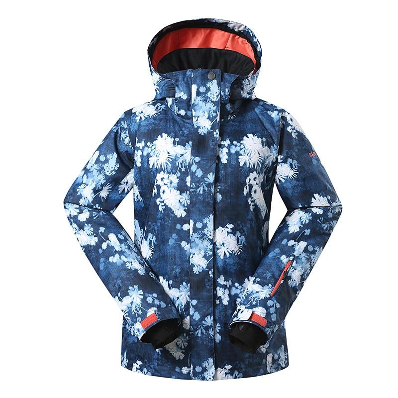GSOU winter ski jacket women snow sports clothing snowboarding jackets women 10K/10K waterproof warm cotton skiing coat sporwear brand gsou snow technology fabrics women ski suit snowboarding ski jacket women skiing jacket suit jaquetas feminina girls ski
