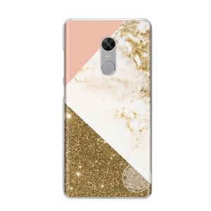 Жесткий пластиковый чехол для телефона Xiaomi redmi 5 4 1s 2 3 3s pro note 5 4 4X 4A 5A plus prime с золотым мраморным принтом