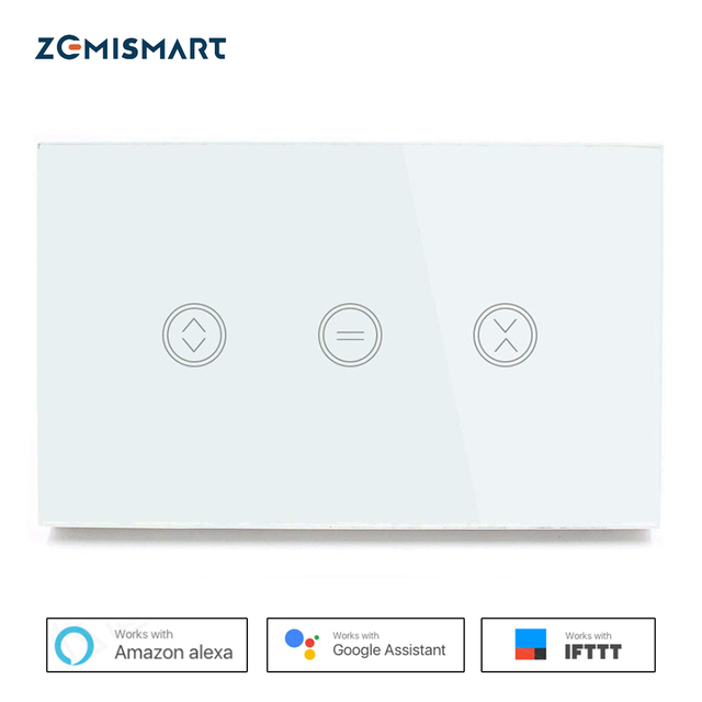 Zemismart interruptor de cortina Wifi de EE. UU. Control de voz de la aplicación WiFi de Siri Alexa Google Home para el garaje deslizante del obturador