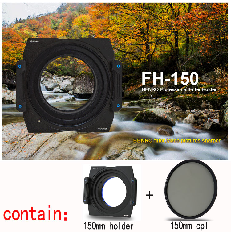 Benro FH150S1 150mm Metal Filter Holder + CPL Kit for Sigma 12-24mm F4.5-5.6 Lens