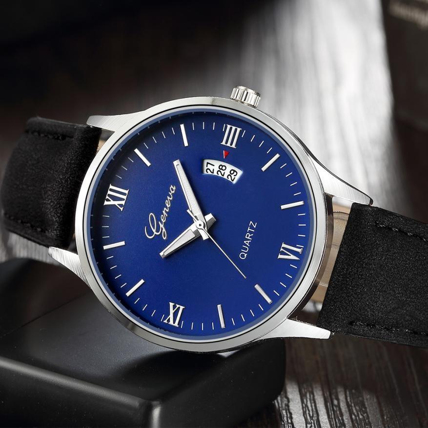Women Watch Luxury PU Leather Date Quartz Wrist Watches For Women Fashion Ladies Dress Watch relogio feminino 2018 Dropshipping