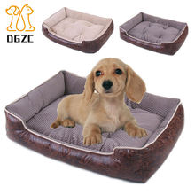 499b36788a46 Warm Dog Beds Soft Fleece Cat Mat House Lounger Sofa Cushion for Large Dog  Golden Bed Removable Cover Husky Kennel Pet Products