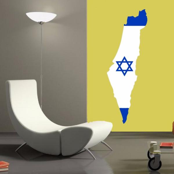 이스라엘의지도 비닐 벽 비닐 칠판 스티커 사용자 정의 집 장식 웨딩 PVC 벽지 패션 디자인 DIY 이동식