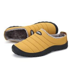 Image 3 - Christmas Winter Men Shoes Warm Plush Home Slippers Men Flip Flops Non slip Indoor Slippers Unisex Home Shoes zapatos de hombre