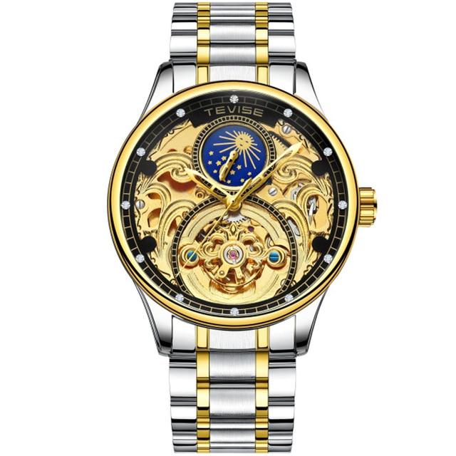 b0f69c528e0 Men Watch Tevise Men Skeleton Automatic Mechanical Wrist Watches Tourbillon  Business Casual Watch Relogio Masculino Gift Box
