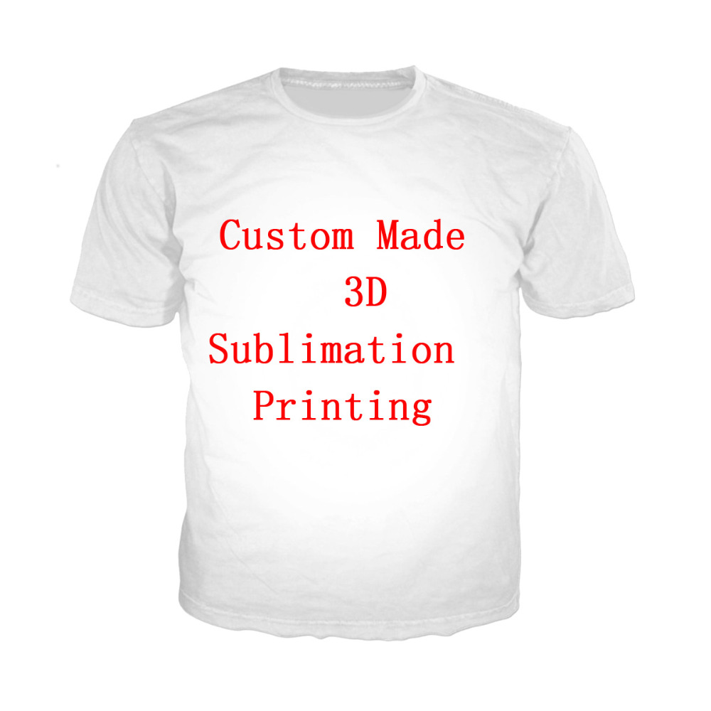 LIASOSO Create Your Own Customer Design Anime/Photo/Star/You Want/Singer Pattern/DIY T-Shirt 3D Print Sublimation T Shirt X0732