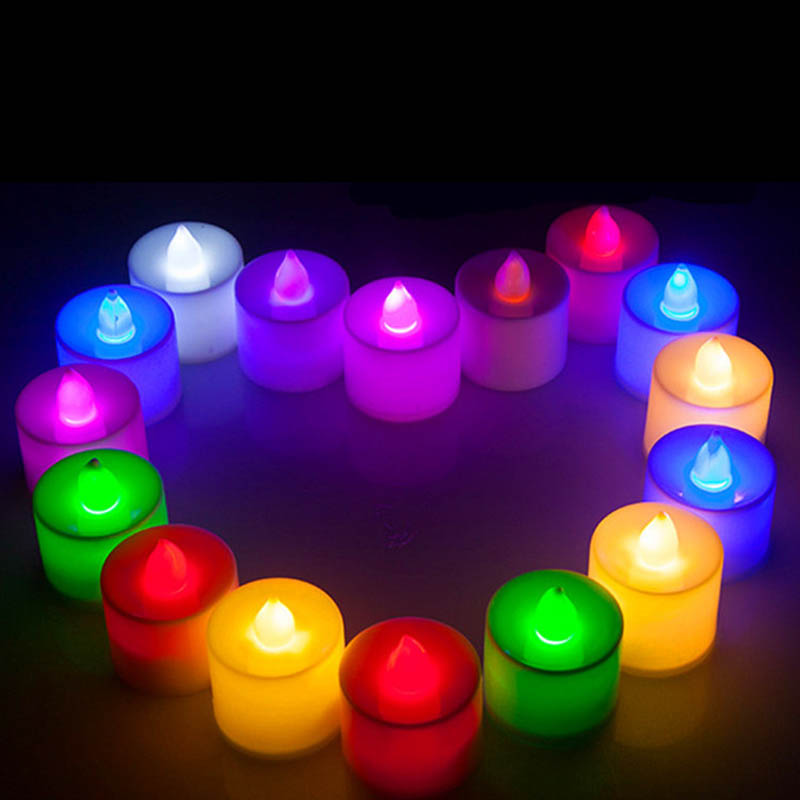 LED Cup Candle Light Wedding Event Marriage Anniversary Tealight Votive Candle With Holder QJS Shop