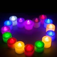 Vela votiva tealight do aniversário do casamento do evento do casamento da luz da vela do copo do diodo emissor de luz com suporte qjs loja|  -
