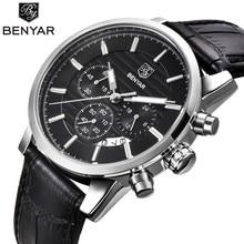 BENYAR 2016 Hommes Montres Top Marque De Luxe Entreprise Imperméable Sport Chronographe À Quartz Homme Montre Mâle Horloge reloj hombre SAAT
