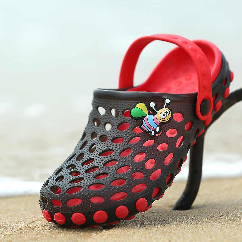 6b1f27249 Hot Children's beach shoes boy sandals wholesale summer girls' slippers  soft bottom baby bathroom cool