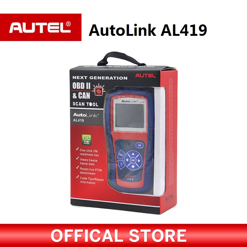 цена на Autel Autolink AL419 OBDII CAN Scan Tool with TFT Color Screen Code Reader Troubleshooter code tips Auto diagnostic tool