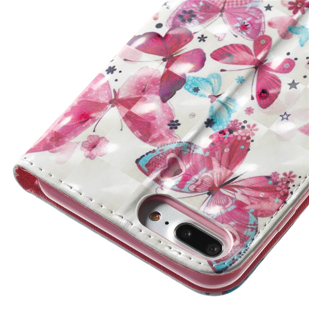 3D Pattern Book Flip Covers For Apple iPhone 7Plus PU Leather Coque Cases For iPhone 7 Plus iPhone7Plus Cases Funda Full Housing