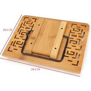 Image 3 - Foldable Tablet PC textbook/Music Document Stand / Desk Bookrest with Retro Hollow Elegant Pattern