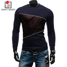 New Brand Sweatshirt Male 2017 Stitching Fashion Mens Hoodies Sweatshirt Slim Cotton Men Sweatshirts Thin Pullover Tracksuit 2XL
