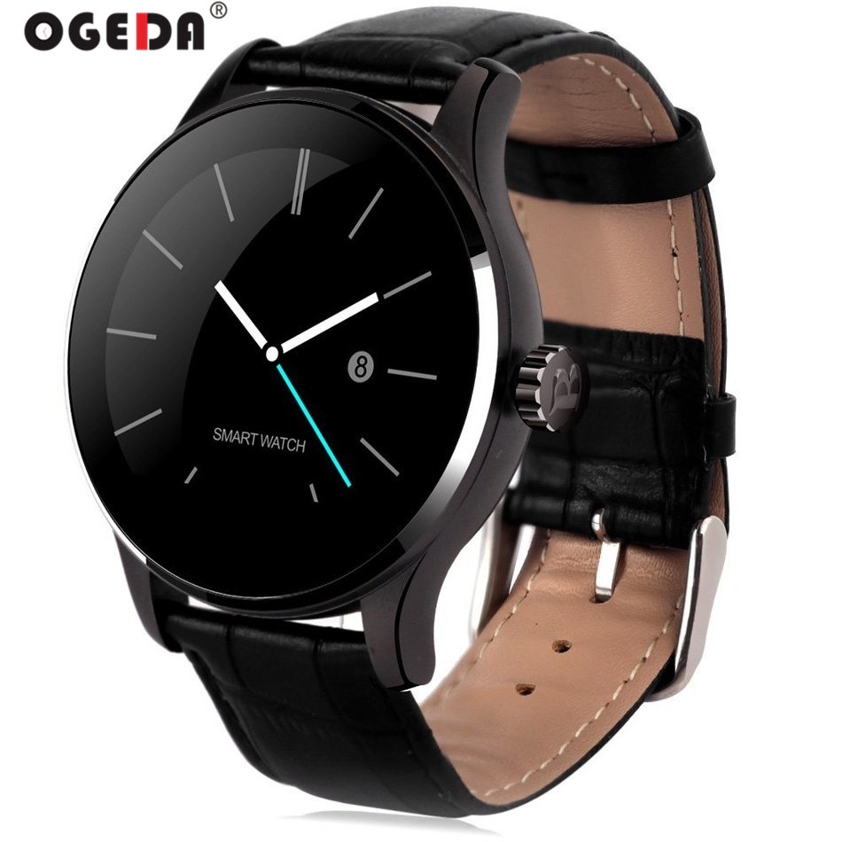 OGEDA 2019 Men Smart Watch K88H Diver Waterproof Bluetooth Stopwatch Dial/answer Call Digital Reloj Inteligente For IOS Android