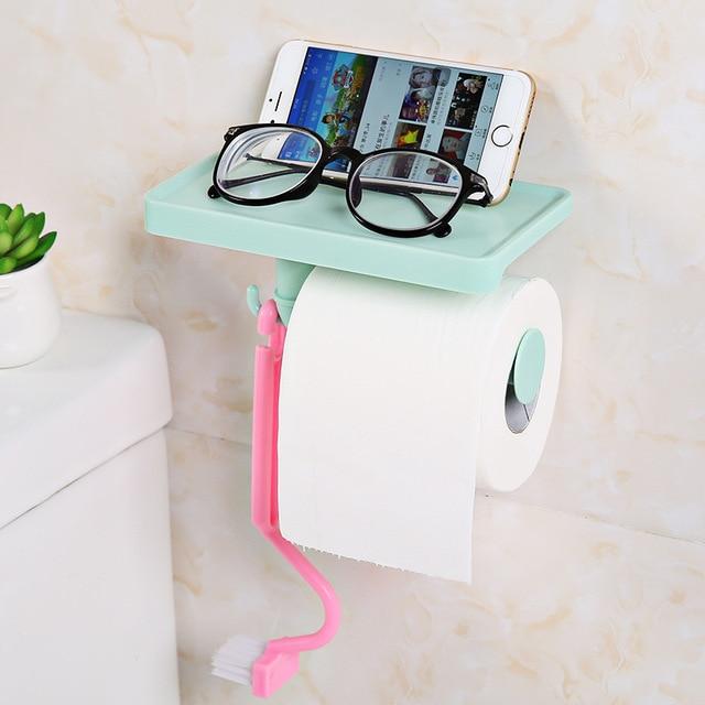 Hogar creativo plástico Pull tipo de papel higiénico toalla ...