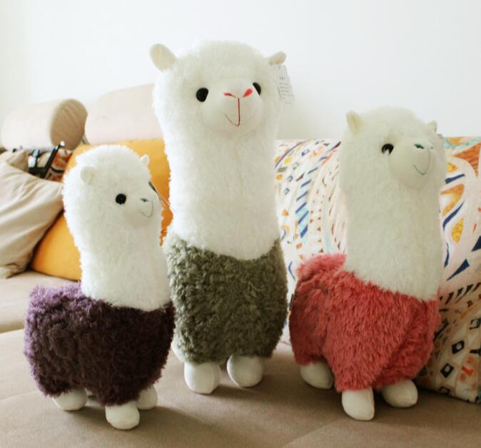 Hot 25cm Lovely Cartoon Alpaca Plush Doll Toy Fabric Sheep Soft Stuffed Animal Plush Llama Birthday Gift For Baby Kid Children hot sale 1pc 35 15cm cartoon smile naughty pig plush doll hold pillow animal stuffed toy children birthday gift free shipping