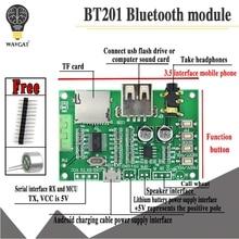 BT201 כפולה מצב 5.0 Bluetooth Lossless אודיו מגבר כוח לוח מודול Tf כרטיס U דיסק Ble Spp יציאה טורית שקוף trans