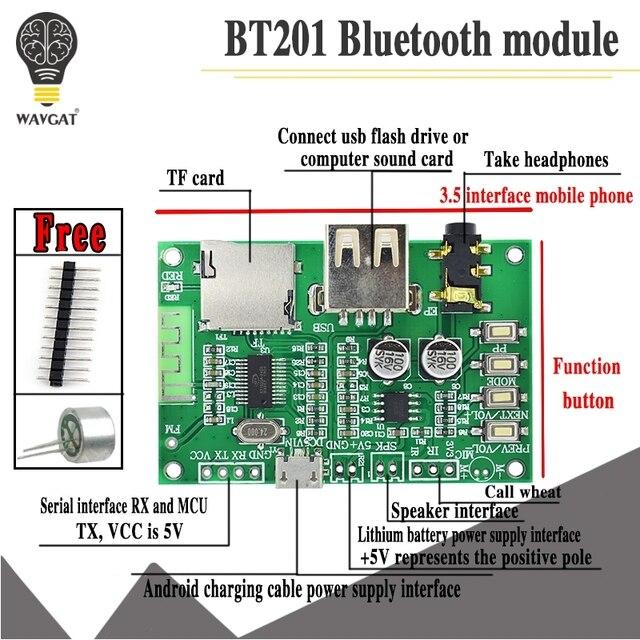 BT201 Dual Mode 5.0 Bluetooth Lossless Audio Eindversterker Board Module Tf Card U Disk Ble Spp Seriële Poort Transparante trans