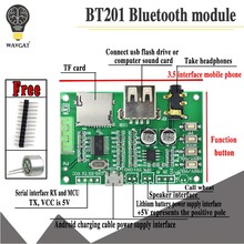 BT201 Dual Mode 5.0 Bluetooth Lossless Audio Bordo Dell'amplificatore di Potenza Modulo Carta di Tf Disc di U Ble Spp Porta Seriale Trasparente trans(China)