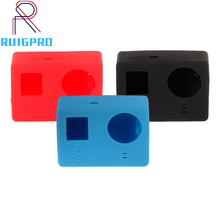 Guigpro for Gopro 4 Accessories Silicone Gel Rubber Protective Case Dustproof Skin Cover for GoPro Hero 4 3+3 Camera bz112 silicone case for gopro hero 3 3 remote controller navy blue