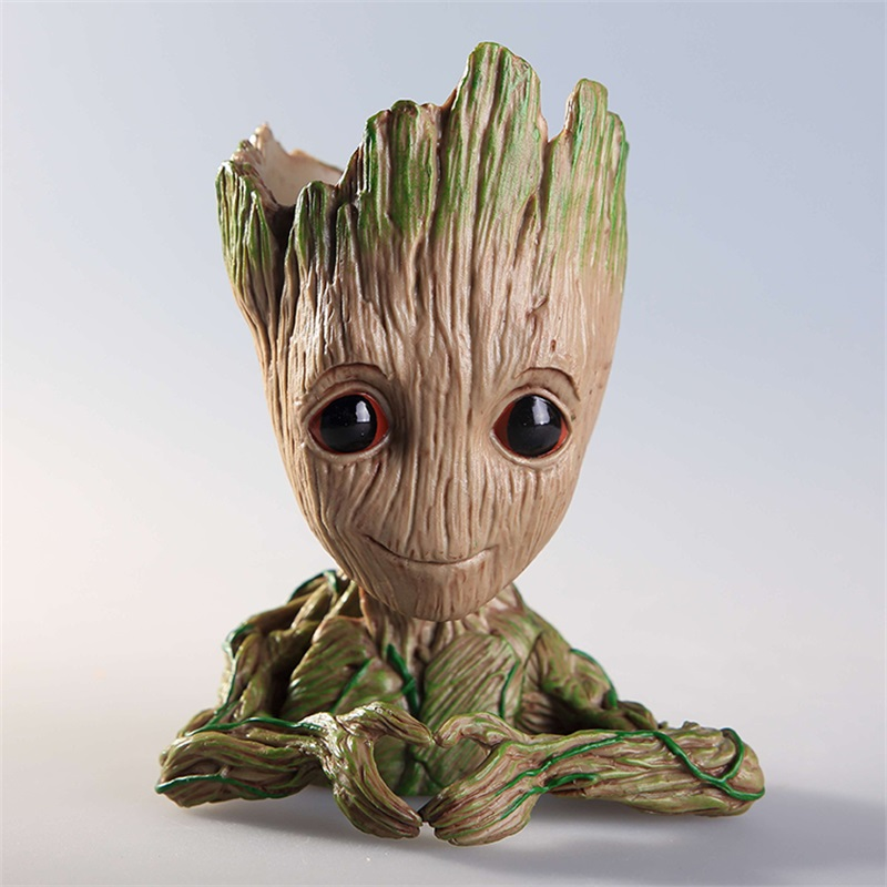 Guardians of The Toy Pen Pot Baby Action Figures Cute Groot Model Galaxy Flowerpot Best Christmas Gifts For Kids Home Decora in stock brinquedos guardians of the galaxy mini cute model action and toy figures cartoon movies and tv p313