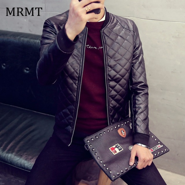 2017 Brand New Leather Clothing Mens Jacket Coat Fall Winter Biker Bomber male Jacket thin men's Jackets Men PU Warm coats