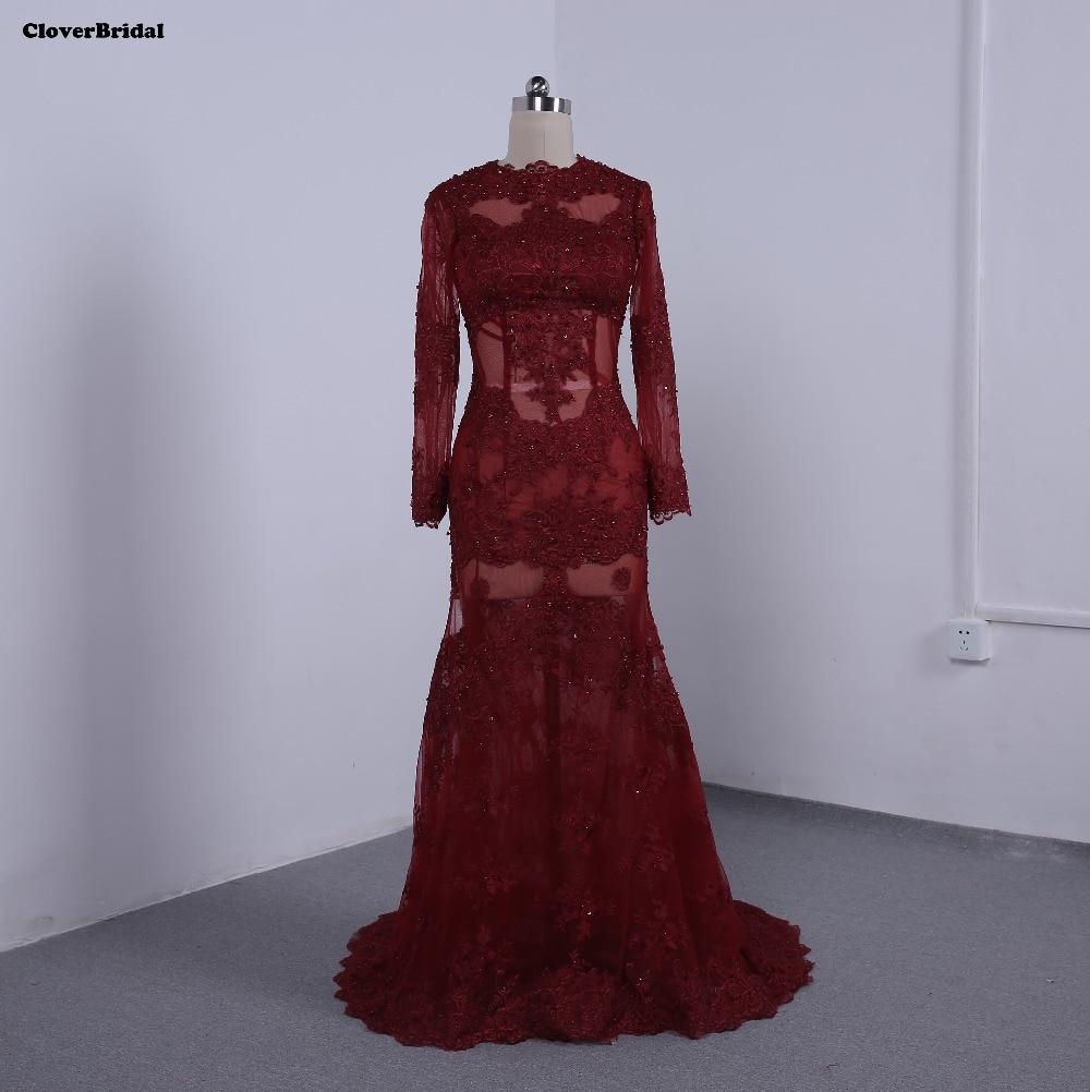 Реальные фотографии, сексуальное кружевное платье с бисером illuison, бордовое длинное вечернее платье 2016, платья с аппликацией в виде русалки