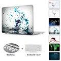 Битое стекло разрыв Бокал печатных Дело Воздуха 13 11 Crystal Clear для MacBook Pro Retina 13 15 Твердый Переплет Mac Book 12 дюймовый