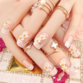 Acrylic False Nail Tips Fake Nail Art Decoration DIY Manicure for Bride and Party 24pcs with Glue