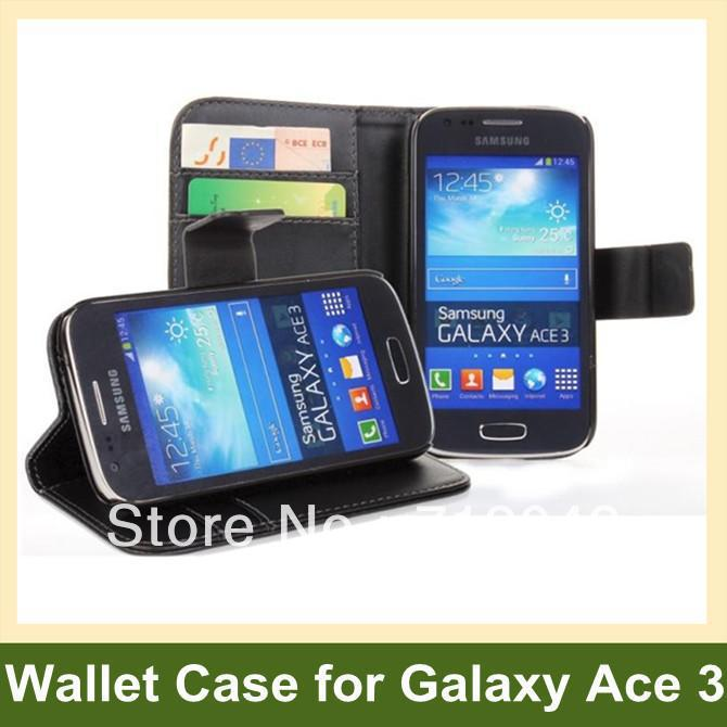 New Arrive PU Leather Wallet <font><b>Flip</b></font> <font><b>Cover</b></font> Case <font><b>for</b></font> <font><b>Samsung</b></font> <font><b>Galaxy</b></font> <font><b>Ace</b></font> <font><b>3</b></font> <font><b>S7272</b></font> Free Shipping image