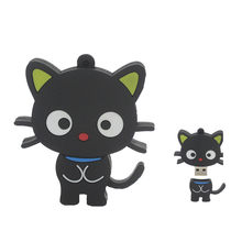 Kartun Lucu Kucing Hitam USB Flash Drive Real Kapasitas Pen Drive 64GB 32GB 16GB 8GB 4GB Memori Stick Flashdisk U Disk Hot Gadis Hadiah(China)