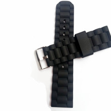 16mm 20mm 24mm  Strap Waterproof Silicone Rubber WatchBand Bracelet Pin Clasp / Buckle Stripes Watchband And Tool
