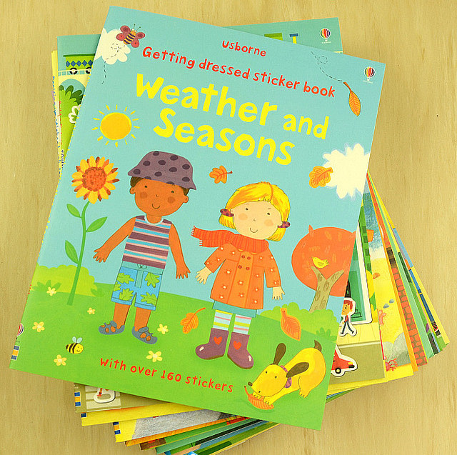 Usborne Kinder Bild Aufkleber Buch Färbung Pädagogische Bücher Für