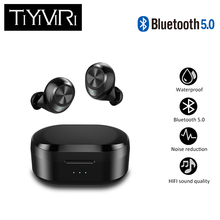 TWS X20 Bluetooth Earphones with mic True Wireless Earbuds Stereo Music Headsets waterproof with Charging Box for Samsung iPhone wishello true wireless earphones bluetooth wireless 4 2 stereo in ear with mic portable charging box for iphone samsung xiaomi