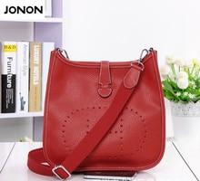 Jonon frauen h aushöhlen punch messenger bags klassische berühmte marke designer echtem leder handtaschen weiblichen crossbody-tasche
