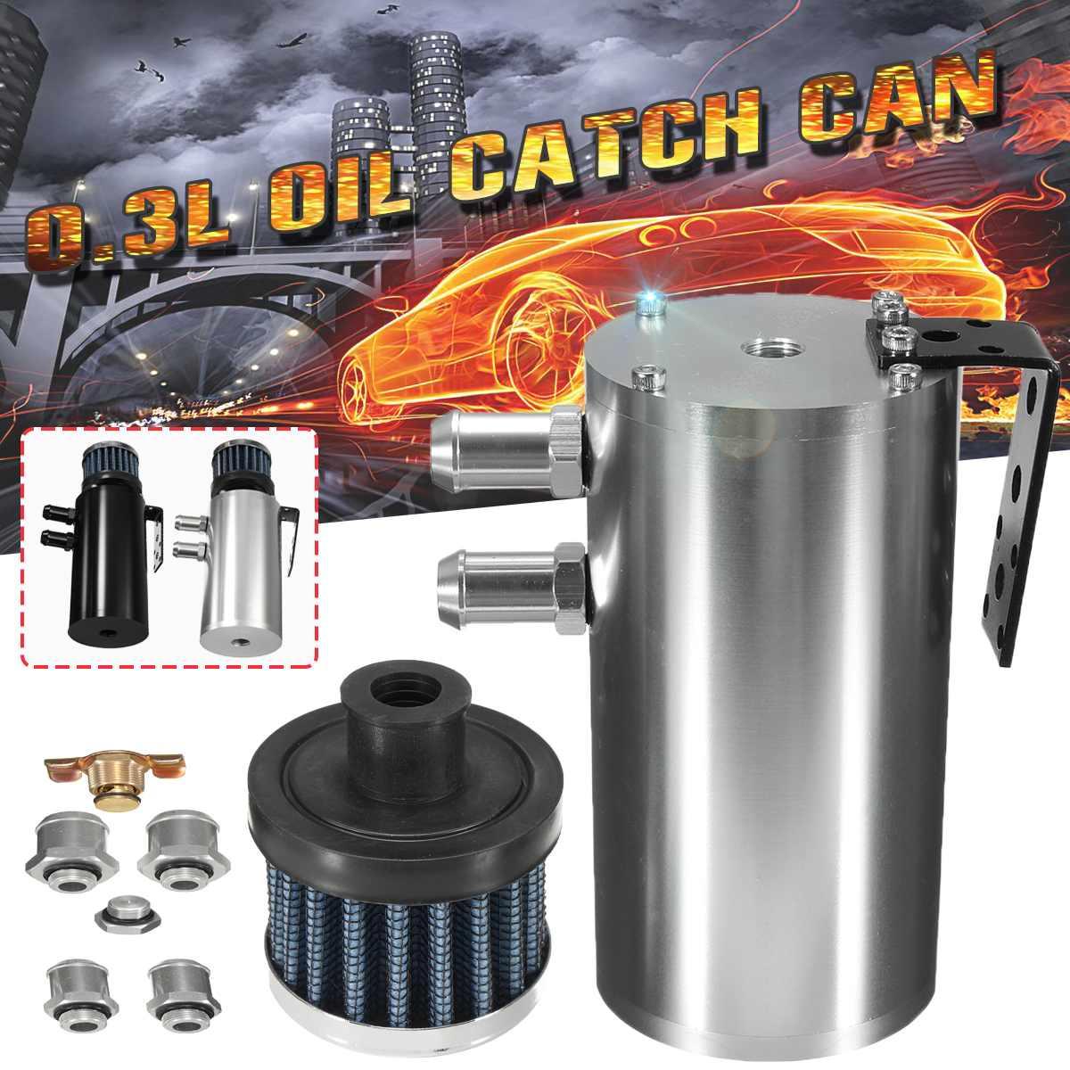 La prise d'huile en aluminium universelle de 0.3L peut réservoir de réservoir/réservoir d'huile avec des accessoires automatiques de filtre