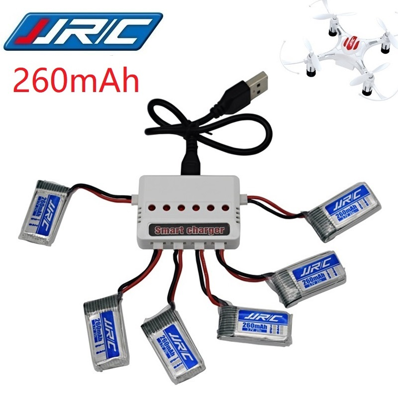 JJRC H8 Mini Original Battery 3.7V 260mAh Lipo Battery And (6in1) Charger For H8 JJRC H8 RC Quadcopter Drone Part H8Mini
