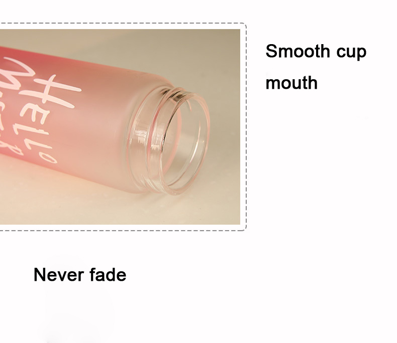 aab2ec3f53 480ml Leakproof Water Bottle With Lid Cute 4 Color Coffee Milk Water ...