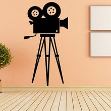 Movie Camera Wall Decal Tool Vinyl Sticker Cinema Retro Art Mural Removable Home Decor Poster AY1573
