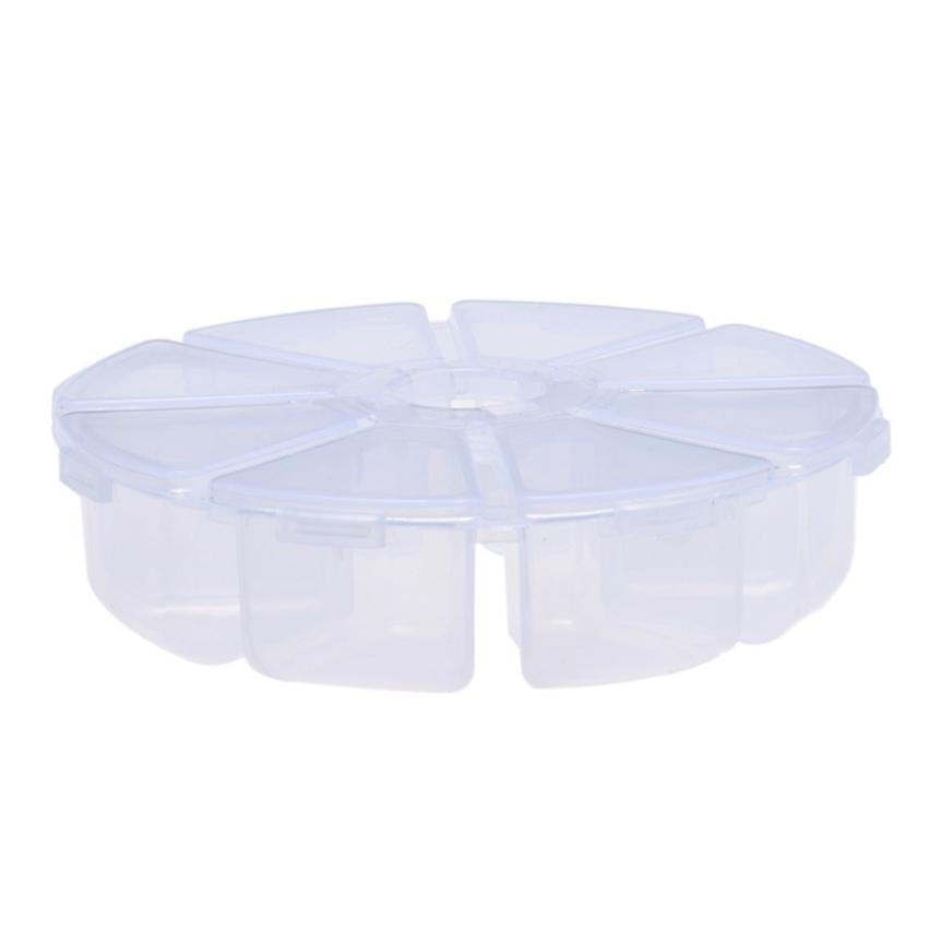 2017 hot sale make up 8 Grids Plastic Desktop Storage Box White 18Mar 16
